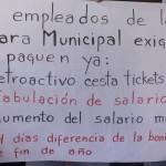 Servidores públicos protestaron la mañana de este lunes en la sede administrativa de la Alcaldía con el propósito de exigir sus derechos laborales.
