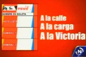 Psuv agregó los ojos y la firma del Comandante Chávez en el tarjetón para las elecciones del 8 de diciembre