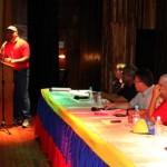 Elías Jaua Milano, sostuvo un encuentro con representantes de la UBCH, en el municipio Buroz de Mamporal,