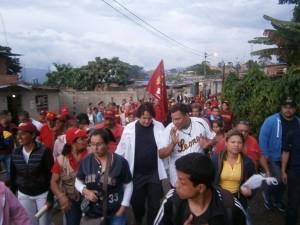 Garcés continúa recorriendo Guacaipuro de la mano con el pueblo