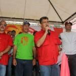 Elías Jaua estuvo acompañado del candidato a la Alcaldía del municipio Sucre, Antonio Álvarez y para la Alcaldía Metropolitana Ernesto Villegas