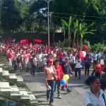 Comunidad de Araguita acompañaron con alegria la jornada inaugural